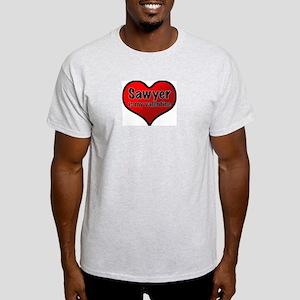 Sawyer is my Valentine Ash Grey T-Shirt