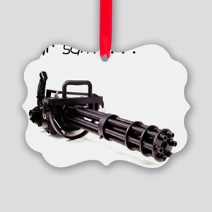 dear santa minigun copy Picture Ornament