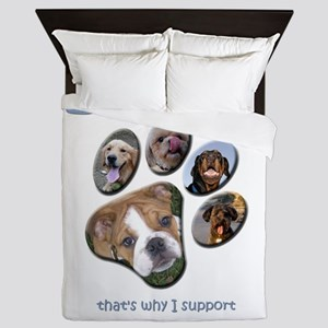 i_love_dogs_paw_print_1 Queen Duvet