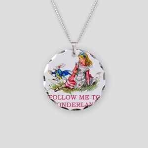 Alice_Maraja_follow me pink  Necklace Circle Charm