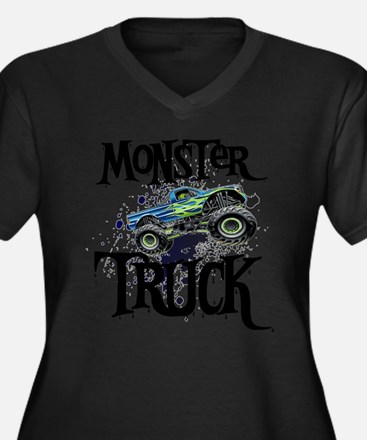 Monster_Truc Women's Plus Size Dark V-Neck T-Shirt