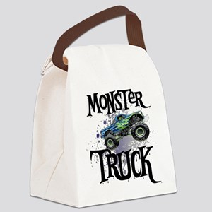 Monster_Truck_cp Canvas Lunch Bag
