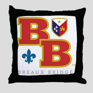 Cadien Breaux Bridge Monoram Throw Pillow