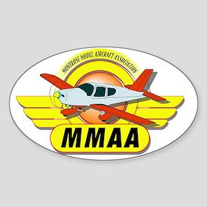 MMAA_logo clip Sticker (Oval)