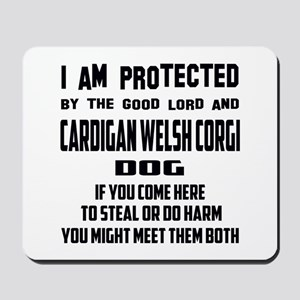 I am protected by the good lord and Card Mousepad