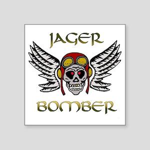 "Bomber1 Square Sticker 3"" x 3"""