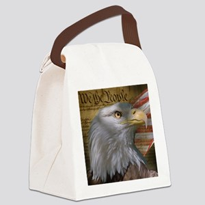 We_the_People_8inSq Canvas Lunch Bag