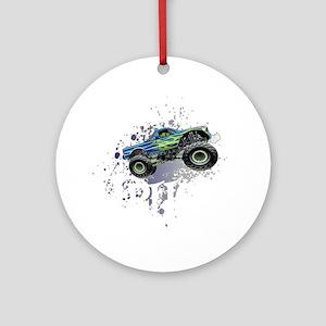 Monster_Truck_Light_cp Round Ornament