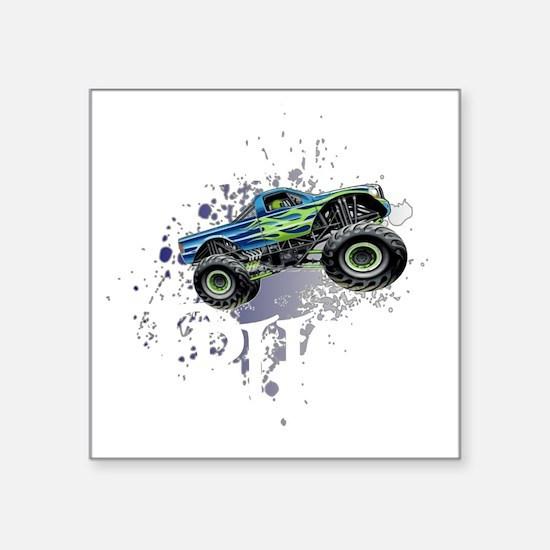 "Monster_Truck_Light_cp Square Sticker 3"" x 3"""