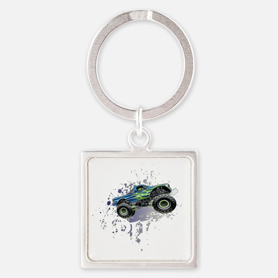 Monster_Truck_Light_cp Square Keychain