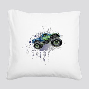 Monster_Truck_Light_cp Square Canvas Pillow