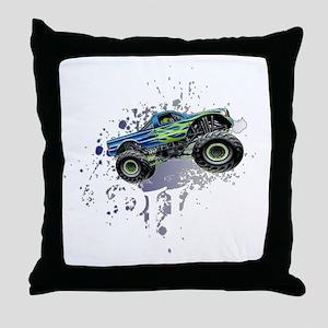 Monster_Truck_Light_cp Throw Pillow