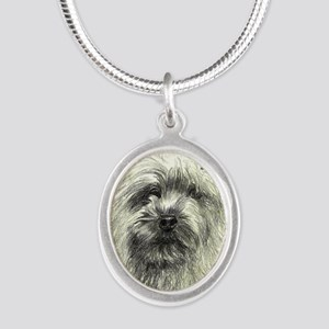 2-Cairn Chatter Silver Oval Necklace