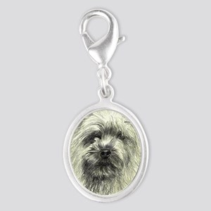 2-Cairn Chatter Silver Oval Charm