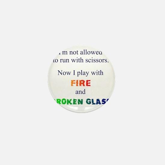 Fire and Broken glass 12 Mini Button