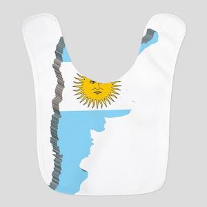 3D Map Of Argentina Bib