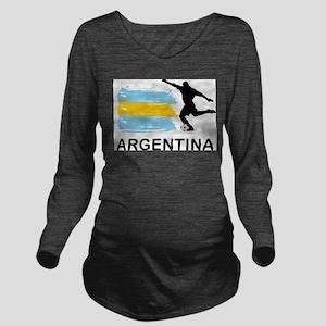 Argentina Football Long Sleeve Maternity T-Shirt