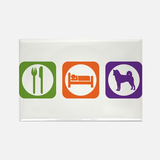 Eat Sleep Shiba Inu Rectangle Magnet
