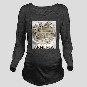 Vintage Armenia Long Sleeve Maternity T-Shirt