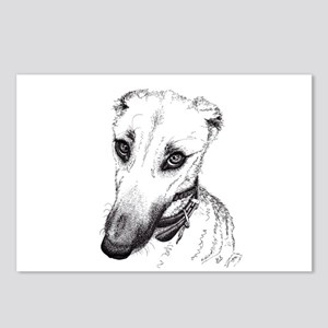 'Rufus' Lurcher with the Postcards (Package of 8)