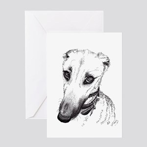 'Rufus' Lurcher with the beautiful Greeting Cards