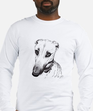 'Rufus' Lurcher with the beaut Long Sleeve T-Shirt