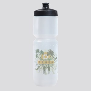 Palm Tree Aruba Sports Bottle