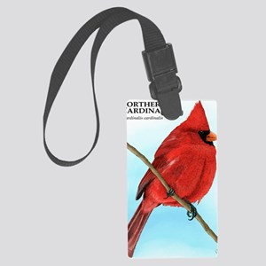 Northern Cardinal Large Luggage Tag