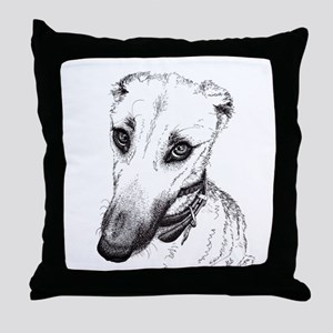 'Rufus' Lurcher with the beautiful ey Throw Pillow