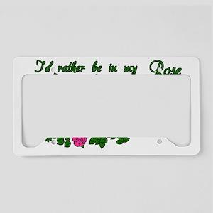 01--14x8-PINK-rose-garden License Plate Holder