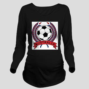 Australia Soccer Long Sleeve Maternity T-Shirt