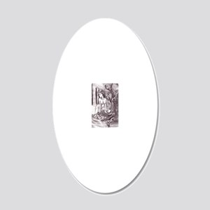 nymph000 20x12 Oval Wall Decal