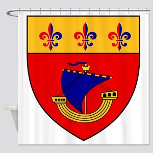 Vessel from the coat of arms Shower Curtain