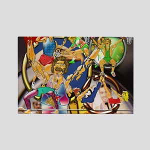9-Competitive Sports Art and Phot Rectangle Magnet