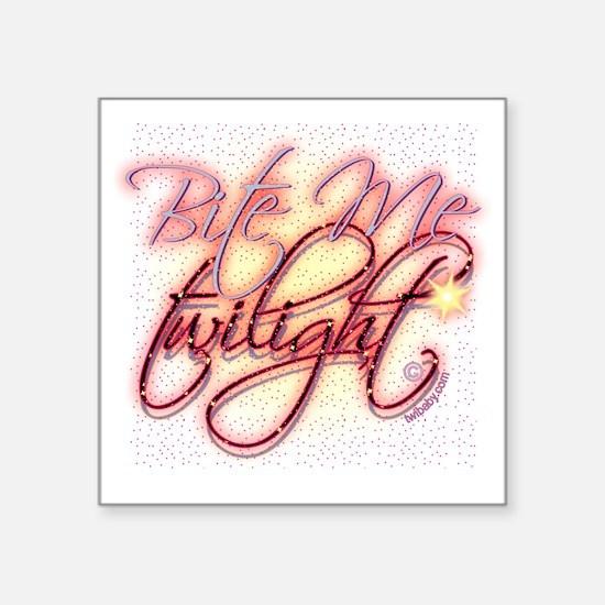 "Twilight Bite Me Elegant Square Sticker 3"" x 3"""