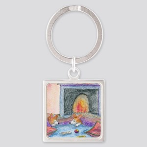 let us know when spring turns up Square Keychain