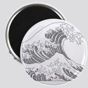 great_wave_grey_10x10 Magnet