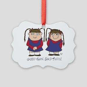 lulakiti_goodtwinbadtwin Picture Ornament