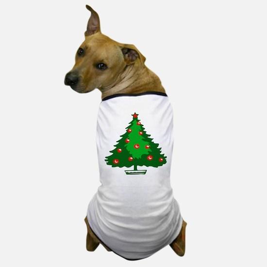 Decorated Christmas Tree Dog T-Shirt