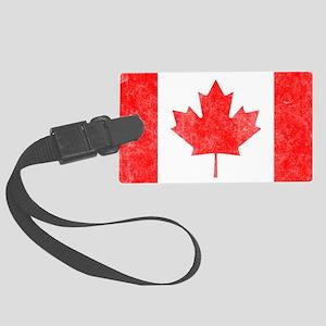 Canada Flag White Large Luggage Tag