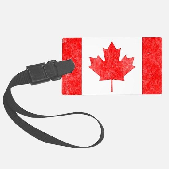 Canada Flag White Luggage Tag
