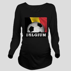 World Cup Belgium Long Sleeve Maternity T-Shirt