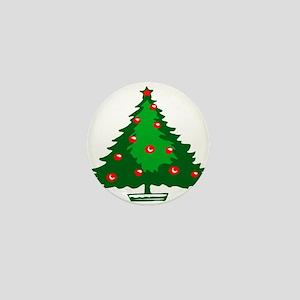 Decorated Christmas Tree Mini Button