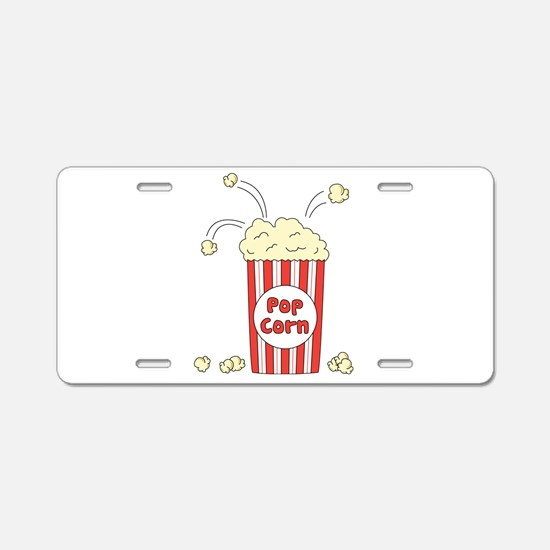Pop Corn Aluminum License Plate