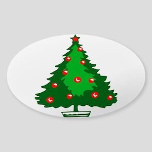 Decorated Christmas Tree Sticker