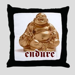 Endure - laughing Buddha urban street Throw Pillow