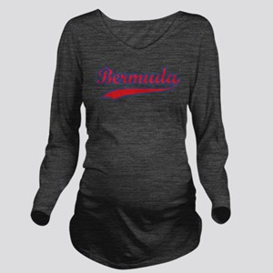 Retro Bermuda Long Sleeve Maternity T-Shirt