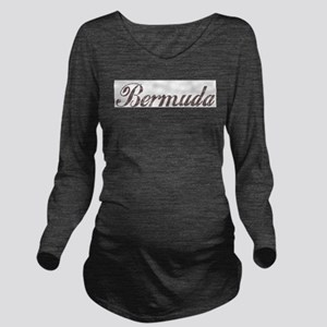 Vintage Bermuda Long Sleeve Maternity T-Shirt