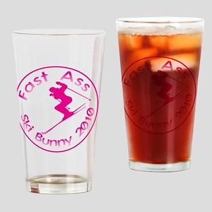 clear-fast-ass-emblem Drinking Glass