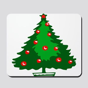 Decorated Christmas Tree Mousepad
